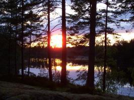 Ferienhaus, Ferienwohnung, Bungalow m. Boot, Sauna und Angelrecht in Süd- Schweden frei.