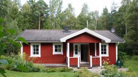 Foto 2 Ferienunterkunft in Südschweden am See zu vermieten mit Boot, 6 Personen, nahe Göteborg