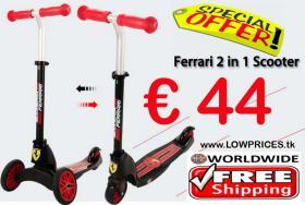 Ferrari 2in1 Scooter nur € 44 versandkostenfrei