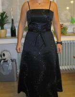 Festliches Kleid schwarz Gr. 38 von ''NIENTE'' mit eleganter Stola