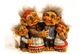 Figur zum Aufstellen, Trollfamilie 12 cm