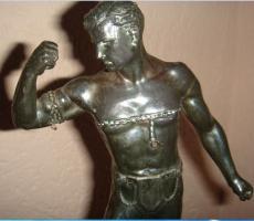 Foto 2 Figur aus Metall -Kettensprenger -26cm -1240g