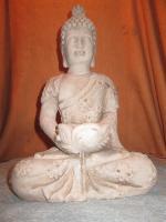 Figur Skulptur Gott Buddha Statue Bali Stein Deko