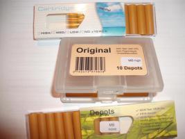 Filterdepots für die Elektrische Zigarette Viele Geschmacksrichtungen, Stärken