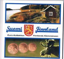 Finnische Raritäten sehr selten 1 , 2 , und 5 Euro Cent Münzen '' 2007 '' ! !