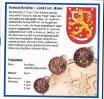 Foto 2 Finnische Raritäten sehr selten 1 , 2 , und 5 Euro Cent Münzen '' 2007 '' ! !