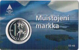 Finnland Muistojeni markka Letzte markka vor dem Euro ! !
