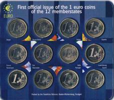 Foto 2 First official issue of the 1 euro coins of the 12 memberstates ! !