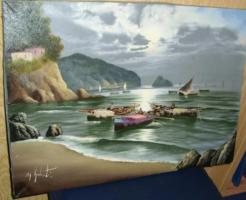 Foto 2 Fischer in der Bucht (Gemälde)