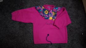 #Fleece m. Applikation, Gr. 110, #NEU, #pink, #Dixi-Mixi