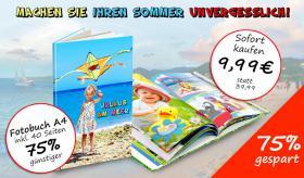 Fotobuch im Hochformat und Querformat um 75% günstiger!