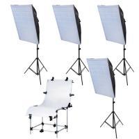 Fotostudioset mit Softbox Aufnahmetisch Lampenstativ Studioleuchte