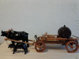Frachtkarren mit Buffel (Buffelkarren)