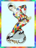 Franklin Mint Limitierte Edition Porzelan Skulptur ''Harlekin''