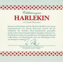 Foto 3 Franklin Mint Limitierte Edition Porzelan Skulptur ''Harlekin''