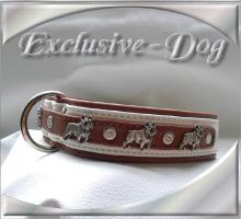 Foto 2 Französische Bulldogge Halsbänder Leder Strass Halsband by EXCLUSIVE-DOG