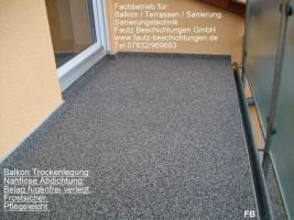 Foto 2 Freiburg, Waldkich, Emmendingen Ihr  Partner für Balkonsanierung, Balkonabdichtung, www.fautz-beschichtungen.de  Info. Tel. 07832 / 969693