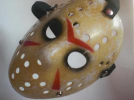 Foto 2 Freitag der 13. 2009 – Original Jason Voorhees Hockey-Maske Replica – MOVIE-DIAMONDS
