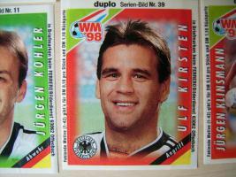 Foto 2 Fußball WM 98 Bilder Duplo Hanuta Sammelbilder von 1998