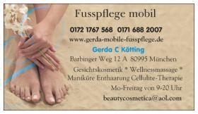 Fusspflege, Maniküre, Kosmetik, Massage; AUCH MOBIL!