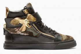 GIUSEPPE ZANOTTI Herren Sneaker Black Calf-Hair Eagle günstig billig gut