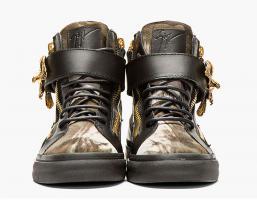 Foto 2 GIUSEPPE ZANOTTI Herren Sneaker Black Calf-Hair Eagle günstig billig gut