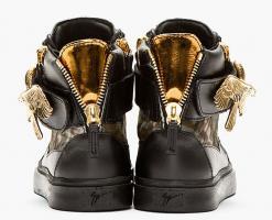 Foto 3 GIUSEPPE ZANOTTI Herren Sneaker Black Calf-Hair Eagle günstig billig gut