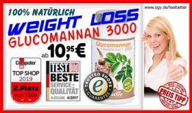 GLUCOMANNAN 3000 weight loss Kapseln ab 11€ supergünstig