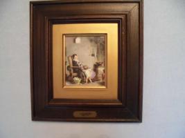 Ganz antik, A. Van Muyden (1818-1898), original Ölbild, Leinwand, brauner, dicker Rahmen, gutes Kunstbild