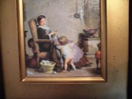 Foto 6 Ganz antik, A. Van Muyden (1818-1898), original Ölbild, Leinwand, brauner, dicker Rahmen, gutes Kunstbild