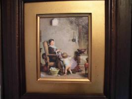 Foto 7 Ganz antik, A. Van Muyden (1818-1898), original Ölbild, Leinwand, brauner, dicker Rahmen, gutes Kunstbild