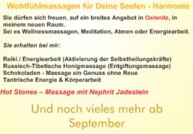Ganzheitliches – Wellness am Ort in Oelsnitz