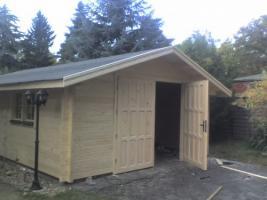 Foto 4 Garagen, Garage, Blockbohlengaragen, Holzgaragen, Garagen,  in 50mm/70mm, ..
