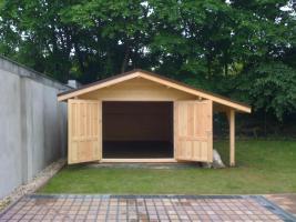 Foto 6 Garagen, Garage, Blockbohlengaragen, Holzgaragen, Garagen,  in 50mm/70mm, ..