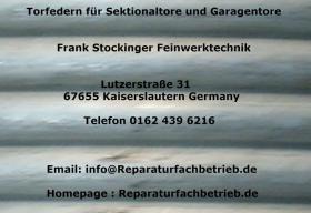 Garagentor Torsionsfeder oder Zugfeder von Reparaturfachbetrieb.de
