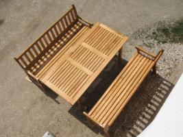 Foto 4 Gartenbank aus Eiche, Eichenholz