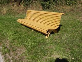 Gartenbank aus  Fichte /Kiefernholz fertig lasiert ca 275 cm lang SONDERPREIS