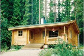 Foto 2 Gartenblockhäuser, Holzgaragen, Garagen, in vielen Grössen und Varianten, ..