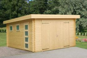 Foto 4 Gartenblockhäuser, Holzgaragen, Garagen, in vielen Grössen und Varianten, ..