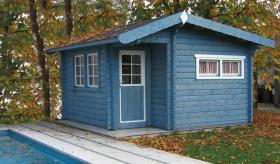 Foto 7 Gartenblockhäuser, Holzgaragen, Garagen, in vielen Grössen und Varianten, ..