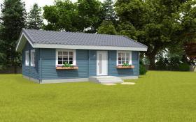 Foto 8 Gartenblockhäuser, Holzgaragen, Garagen, in vielen Grössen und Varianten, ..