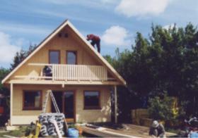 Foto 9 Gartenblockhäuser, Holzgaragen, Garagen, in vielen Grössen und Varianten, ..
