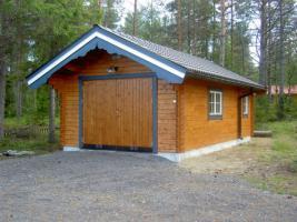 Foto 11 Gartenblockhäuser, Holzgaragen, Garagen, in vielen Grössen und Varianten, ..