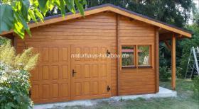 Foto 12 Gartenblockhäuser, Holzgaragen, Garagen, in vielen Grössen und Varianten, ..