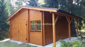 Foto 13 Gartenblockhäuser, Holzgaragen, Garagen, in vielen Grössen und Varianten, ..