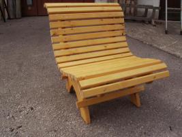 Foto 4 Gartengarnitur 4teilig aus Fichtenholz fertig lasiert