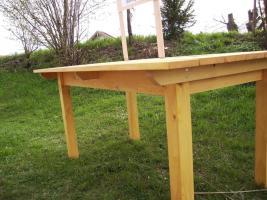 Foto 6 Gartengarnitur 4teilig aus Fichtenholz fertig lasiert