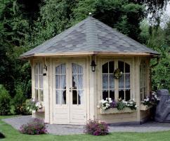 Gartenhäuser, Pavillon, Blockhäuser, Gartensauna, Sauna