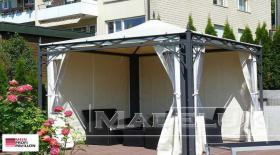 Foto 4 Gartenzelt Pavillon Laube Pvc Festzelt Sonnensegel 5x5