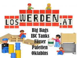 Gebrauchte Bags, Fässer, IBC, Paletten, Oktabins
